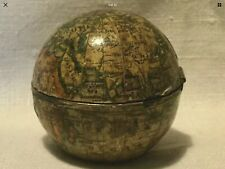 Antique Terrestrial Pocket Globe Inkwell. Early 1800s.