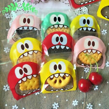 100pcs Monster Mouth Easter Cookies Bags Party Gift Packaging Candy Bag