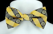 Boston Bruins Plaid Mens Bow Tie Adjustable Neck NHL Hockey Fan Necktie New