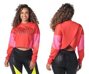 Zumba Color Blocked Sweatshirt - Red ~ XS, Small, Medium, Large, XL ~ New!