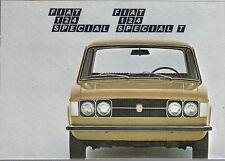 Fiat 124 Special & Special T 1438cc 1971 UK Market Sales Brochure Portfolio