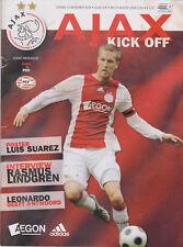 Programma / Programme Ajax Amsterdam v PSV Eindhoven 16-11-2008