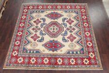 IVORY Geometric 10 ft SQUARE Super Kazak Oriental Area Rug Wool South-western