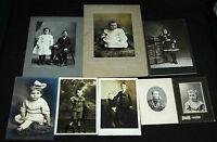 Vintage Children Photographs Portraits Antique Dates Unknown Photography B/W Old