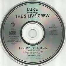 Luke Campbell 2 LIVE CREW Banned in USA MIXES& INSTRUMENTAL CD Bruce Springsteen