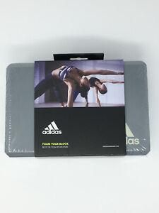 Adidas High Density Foam Exercise Yoga Block - Gray - New