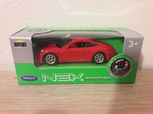 Welly NEX Porsche 911 Carrera S, Red, No. 52331 - 1:64 1/64 1:60 1/60