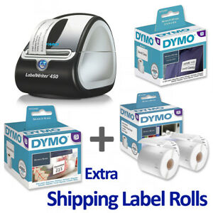 Dymo LabelWriter 450 Printer, USB, labeller for PC/Mac, with Extra label Bundle