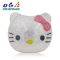 Hello Kitty crystal Clutch Bag Diamond Purse Handbags 3 Colors-FREE SHIPPING