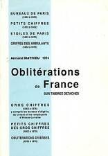 Catalogue des Oblitérations de France Mathieu sur timbres détachés