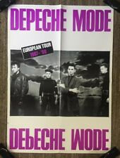 Depeche Mode Vintage Poster European Tour 1987-88 Promo Music Ad Pin-up Retro