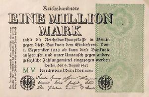 Germany: Banknote 1.000.000 Mark - Berlin 1923