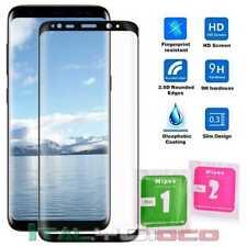 Pellicola in Vetro Temperato Curvo per Samsung Galaxy S8 Nero Trasparent 3D