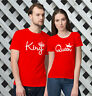 King and Queen T-Shirts -Valentine's Day Matching T-Shirts for Couples!