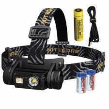 NITECORE HC65 1000 Lumen Multi-LED Rechargeable Headlamp & 2x CR123A Batteries