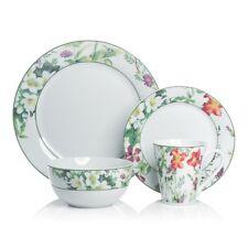 Brilliant - 16 Piece Porcelain Bloom Dinnerware Set, Service for 4