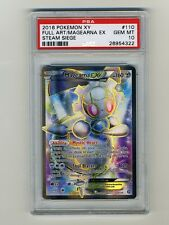 Pokemon PSA 10 GEM MINT Magearna EX FULL ART Steam Siege English Card 110/114