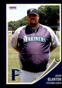 2014 Pulaski Mariners Choice #29 Jason Blanton Raleigh North Carolina NC Card