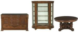 19880-S American Late Victorian Three-Piece Mahogany Dining Suite/ Horner