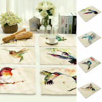 Ink Kitchen Table Painting Hummingbird Insulation Placemat Dining Table Mat Home