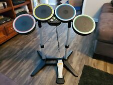 Rock Band Harmonix Drum Set No Sticks with Pedal Xbox 360 Working Condition
