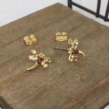 Dragonfly Crystal Titanium Post Stud Earrings US Seller Made in Korea