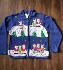 Vintage Ugly Christmas Sweater Holiday Party Embellished