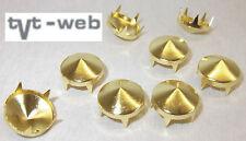 50 Ziernieten, Krallenniete, Kegelnieten 12,5mm gold  !! rostfrei !!