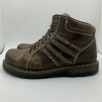 Dr. Doc Martens Brown Leather Quincy Air Wair Boots Men's Lace Up Shoes Size 12