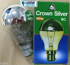 BELL Crown Silver Light Bulb 100w BC