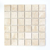 Mosaik Chiaro antique Travertine Fliesenspiegel Küche Art: 43-46048 | 10 Matten