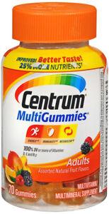 CENTRUM ADULT MULTI GUMMIES 70CT