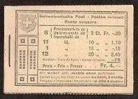 s1585) Schweiz  Markenheftchen  MH 17 Alpenlandschaft Baum postfrisch