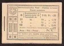 s1585) Suiza Folleto de sello MH 17 Paisaje alpino árbol perfecto estado