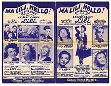PARTITION ANCIENNE - MA LILI, HELLO ! - LESLIE CARON - JEAN-PIERRE AUMONT - 1952