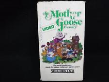 VHS Rare Video The Mother Goose Treasury Video Volumes Vol. 1 2 I & II lot B