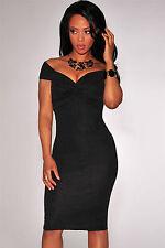 Abito a cono aperto nudo Arricciato scollo Textured Knotted Club Bodycon Dress M