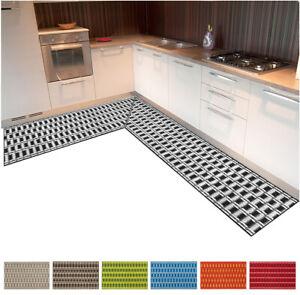 Tappeto cucina angolare 3D bordato passatoia metraggio su misura antiscivolo