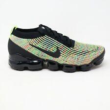 Nike Womens Air Vapormax Flyknit 3 Black Volt Multi Running Shoes Size 10.5