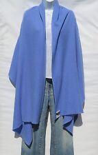100% Cashmere Shawl/Wrap 4 Ply Hand Loomed Nepal Mini Herringbone Light Blue