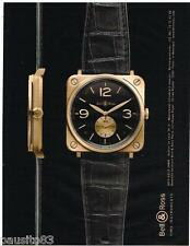 PUBLICITE ADVERTISING 105  2011   BELL & ROSS collection montre BR S GOLD