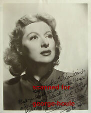 GREER GARSON - 8X10 - AUTOGRAPHED - 1964 - AUNTIE MAME - MRS. MINIVER - AA