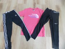 GIRLS NIKE ADIDAS THE NORTH FACE T-SHIRT SPORTS LEGGINGS AGE 8-10 YEARS