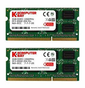 Komputerbay 8Go (2x 4Go) DDR3 SODIMM (204 broches) 1066Mhz PC3 8500 8Go