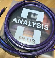 Analysis Plus Clear Oval Speaker Cables, 14 Gauge, 6ft Length, PAIR, Bananas