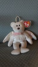 """TY """"Halo"""" Angel Bear Beanie Baby Rare Tush Tag Brown Nose (ERROR) Collector lte"""