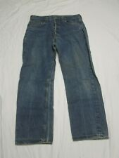 Vintage 1970s LEVIS 501 #6 Button Redline Selvedge Denim Blue Jeans W35 L32 NICE