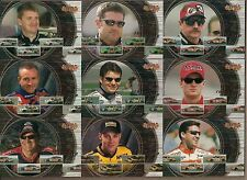 NASCAR UD 2000 RECORD PACE (9) CHASE CARD SET #RP1-RP9 EARNHARDT GORDON BURTON+