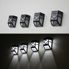 Outdoor Solar Powered 2-LED Wall Path Landscape Mount Garden Fence Light Lamp