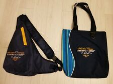 2007 ROYAL CARIBBEAN LIBERTY OF THE SEAS SHIP MAIDEN VOYAGE TOTE BAG & BACKPACK